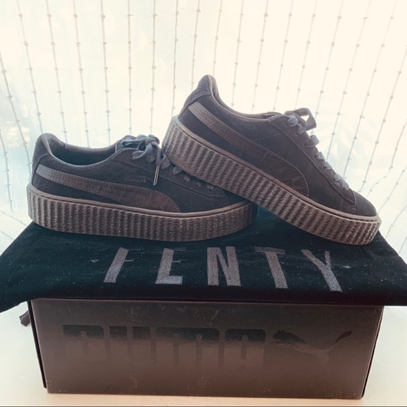 newest collection 19028 b6efa FENTY x PUMA Black Creepers in Suede & Satin